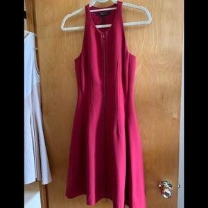 Bcbg red corset zip dress